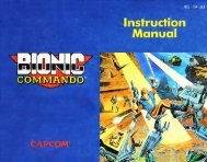 Bionic Commando Instruction Manual - V-Note's Online