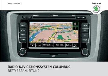radio-navigationssystem columbus - Media Portal - škoda auto