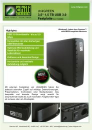 1,5 TB USB 3.0 Festplatte Art: 11400280 - chiliGREEN