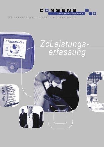 ZcLeistungs- erfassung - Consens Zeiterfassung GmbH
