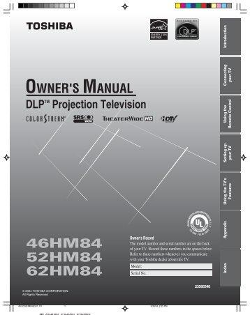 20hl85 owner s manual english toshiba canada rh yumpu com Toshiba HD Plasma toshiba custom series hd tv manual