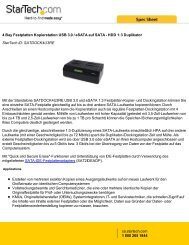 4 Bay Festplatten Kopierstation USB 3.0 / eSATA auf ... - StarTech.com