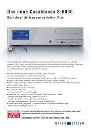 Das neue Casablanca S-6000. - MacroSystem