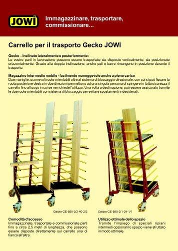 Carrello per il trasporto Gecko JOWI