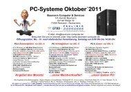 PC-Systeme Oktober´2011 Baumann Computer & Services