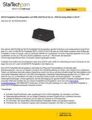 SATA Festplatten Dockingstation auf USB/ eSATA 6 ... - StarTech.com