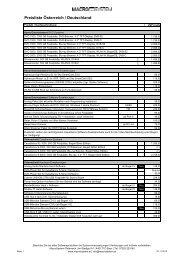 Preisliste Österreich / Deutschland - MacroSystem