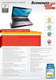 DAS LENOVO® IDEAPAD® Z570
