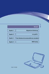 Allgemeine Einleitung Kapitel 1 Los geht's Kapitel 2 Das Notebook ...