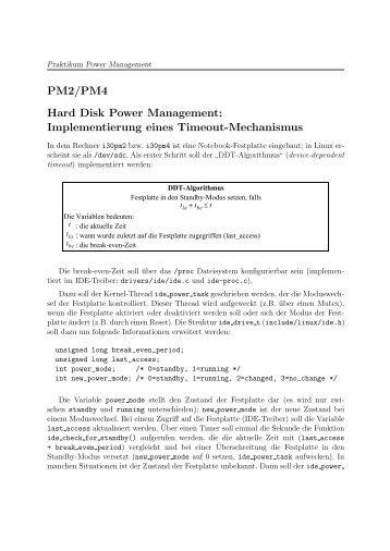 PM2/PM4 Hard Disk Power Management - IBDS-OS Startseite