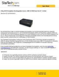 4 Bay SATA Festplatten Dockingstation 6,4cm - USB ... - StarTech.com