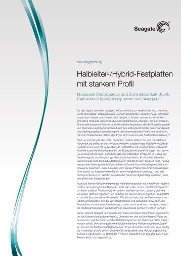 Halbleiter-/Hybrid-Festplatten mit starkem Profil - Seagate