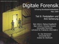 Sicherung (Preservation) von Festplattendaten - Lehrstuhl für ...