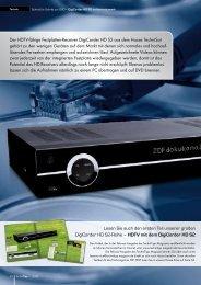 Der HDTV-fähige Festplatten-Receiver DigiCorder HD S2 aus dem ...