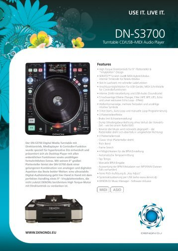 DN-S3700 - D&M Professional Europe