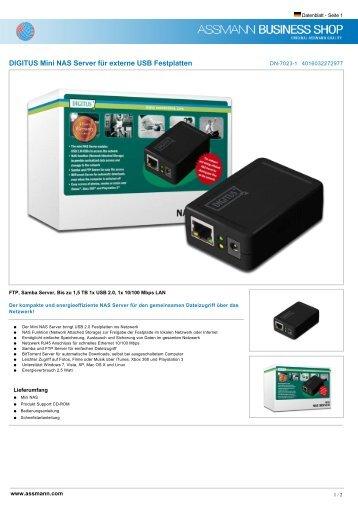 DIGITUS Mini NAS Server für externe USB Festplatten - Ingram Micro