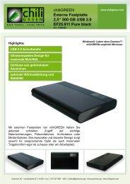 Externe Festplatte 2,5'' 500 GB USB 2.0 EF25.911 ... - chiliGREEN