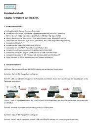 Benutzerhandbuch Adapter für USB 2.0 auf IDE/SATA - Inmac