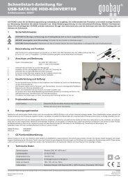 Schnellstart-Anleitung für USB-SATA/IDE HDD ... - Wentronic