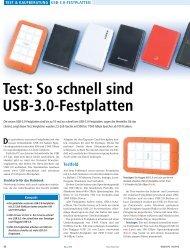 Test: So schnell sind USB-3.0-Festplatten