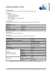 Technisches Datenblatt (PDF) - Oli Lacke GmbH