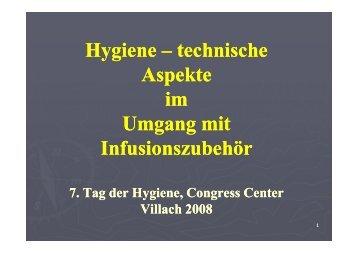 Hygiene -technische Aspekte im - 8. Tag der Hygiene