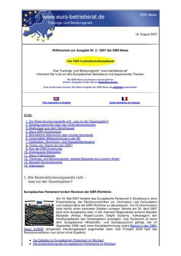 zur Ausgabe Nr. 2 - Archiv EBR-News