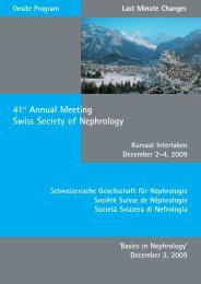 41st Annual Meeting Swiss Society of Nephrology - SGN-SSN