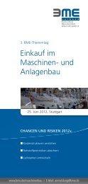 3. BME-Thementag Einkauf im Maschinen- und Anlagenbau