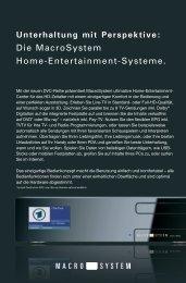 Unterhaltung mit Perspektive: Die MacroSystem Home ...