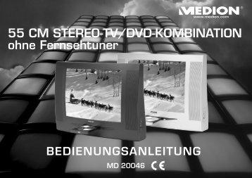 55 CM STEREO-TV/DVD-KOMBINATION ohne Fernsehtuner - medion