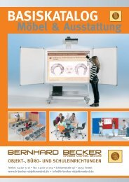 """Größe """"L"""" - Bernhard Becker - Objekt-, Büro- und Schuleinrichtungen"""