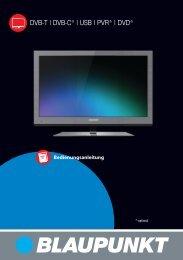 DVB-T   DVB-C*   USB   PVR*   DVD* - Schuss Home Electronic