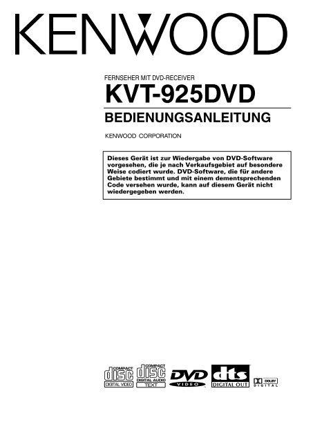 KVT-925DVD Allgemeine Bedienung - Kenwood