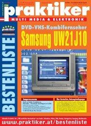 Samsung UW21J10: DVD-VHS-Kombifernseher - ITM ... - praktiker.at