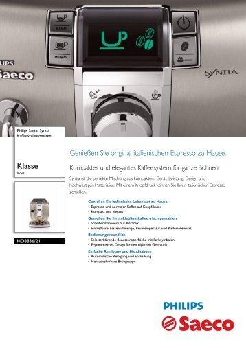 HD8836/21 Philips Kaffeevollautomaten - Ostermann