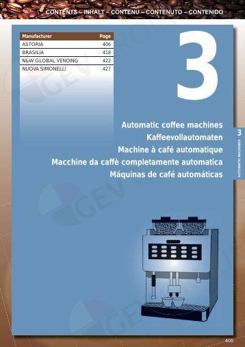 Automatic coffee machines Kaffeevollautomaten Machine à café ...