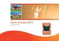 Kamin-Preisliste 2013 - beim Venus Tonwerk