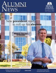 Fall/Winter 2010 issue (pdf) - Medical College of Wisconsin