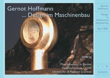 Gernot Hoffmann ... Design im Maschinenbau