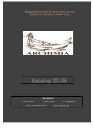 Katalog 2010 - Archimia