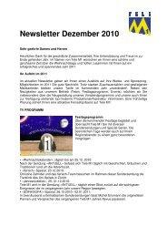 Newsletter Dezember 2010 - Tele M1