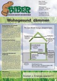 Wohngesund dämmen - Biber GmbH