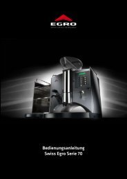 Pflichtenheft Software - Egro Coffee Systems AG