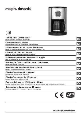 g f d e h p i q s } ≈ 12 Cup Filter Coffee Maker Cafetière filtre ... - EWT