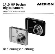 14.0 MP Design Digitalkamera Bedienungsanleitung - medion