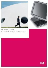 HP Tablet PC TC1100 - Computer Sommer GmbH