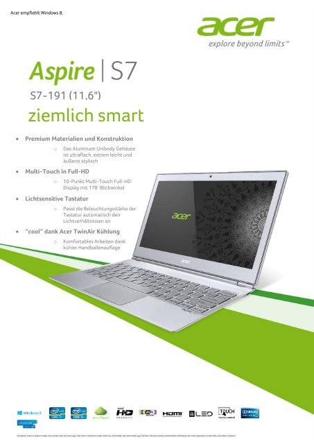 DRIVERS UPDATE: ACER ASPIRE S7-191 INTEL ME