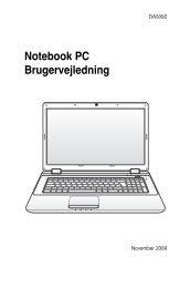 Notebook PC Brugervejledning