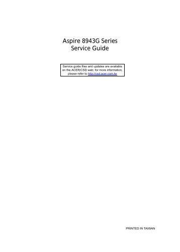 Aspire 8943G Series_SG - Acer Support